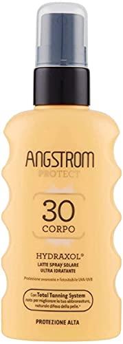 Angstrom Protect Latte Solare in Formato Spray, Protezione Solare Corpo 30+ con Azione Ultra Idratante e Duratura, Indicata per Pelli Sensibili, 175 ml