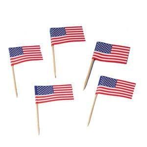 FLAGGENPICKER -USA- ***200 STÜCK***