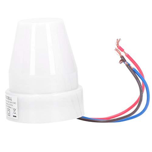 WNSC - Interruptor de iluminación, pequeño interruptor de sensor de fotos ligero, lámpara LED con mando a distancia para lámpara de jardín