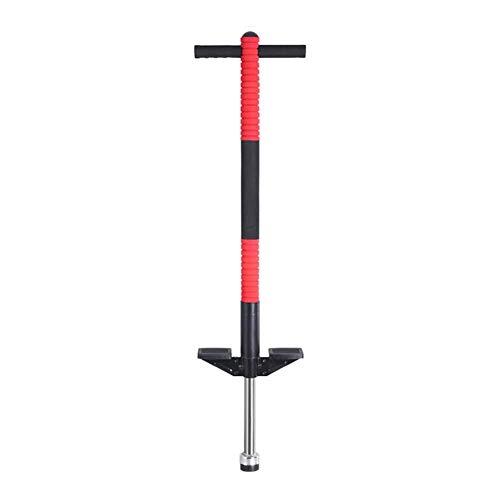 XIAOYAN Saltador Pogo Stick Pogo Stick para niños - para niños 5,6,7,8,9,10 años de Edad y hasta 36kgs - Impresionante Pogo de Calidad de diversión para niños y niñas (Rojo)