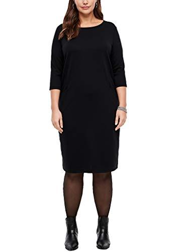 TRIANGLE Damen kurz Kleid, Schwarz (Schwarz 9999), 42