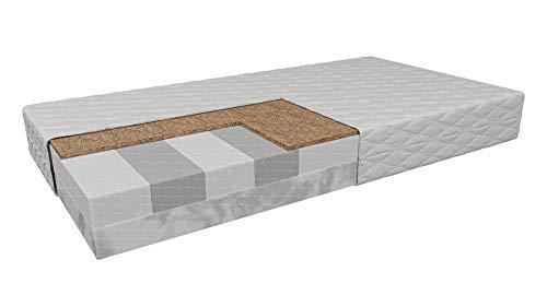 Schlafmatratze Fermo | Hochflexibler Profilschaum HR Visco + Klimafasereinsatz | Härte: H3/H4 - mittelhart/hart | Wende-Matratze | Höhe: 14cm | Antiallergische Abdeckung (180 x 200 cm)
