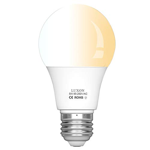 Motion Sensor Light Bulb 5W Smart Bulb Radar Dusk to Dawn LED Motion Sensor Light Bulbs E26 Base Indoor Sensor Night Lights Soft White 2700K Outdoor Motion Sensor Bulb Auto On/Off by Luxon