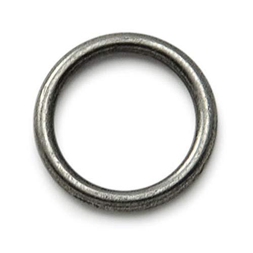 10-delige set O-ringen van roestvrij nikkelstaal zonder lasnaad Ø 1,35 cm voor honden-, kattenhalsbanden, koorden etc, kleur: zilver, maat: S - merk Ganzoo