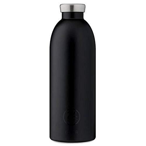 Isolierte Trinkflasche 'Clima Bottle' aus Edelstahl 850 ML, Farbe:tuxedo black