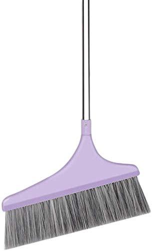 DIAN Handgriff lang Besen Energie Corner Large Angle Broom Verwendung im Innen- oder Aussen Einfach for Besenstrich, Fegen, Reinigung, Hauswirtschafts (Color : Purple)