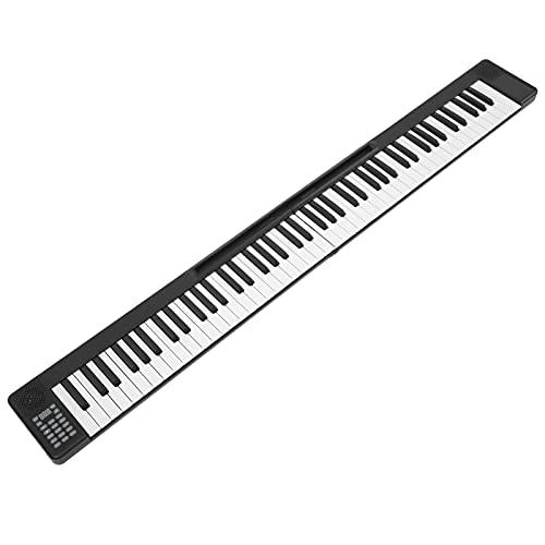 Teclado Musical Electrónico, Piano Plegable, Operado Por Batería, Inalámbrico, Doble BT 5.0, Teclas Sensibles Al Tacto, Profesional Para Rendimiento Para Entretenimiento
