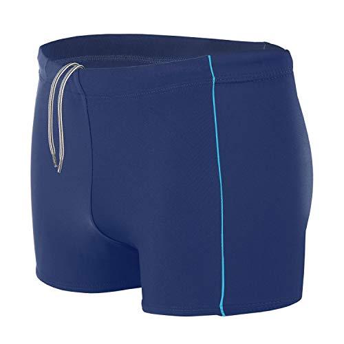 Aquarti Bañador para Hombre Tipo Boxer, Azul Oscuro/Azul, S
