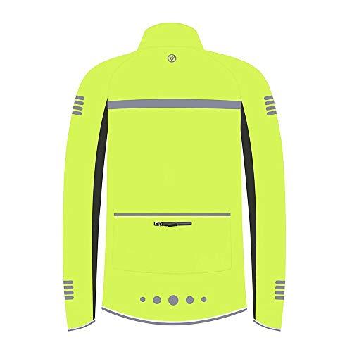 Proviz Classic Hi Viz Reflective Men's Softshell Cycling Jacket Hi Visibility Cycle Bike Coat, Yellow, XXL