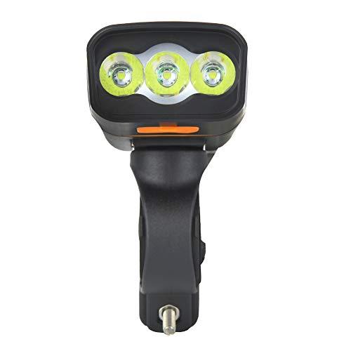 Luz de bicicleta impermeable, luz blanca Faro de bicicleta Faro de bicicleta Durable y resistente al desgaste Bajo consumo de energía con plástico + PC para accesorios de bicicleta