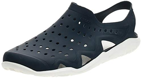 Crocs Swiftwater Wave M Zapatos de agua Hombre, Azul (Sea/Blue/White/Strap), 42-43 EU (8 UK)