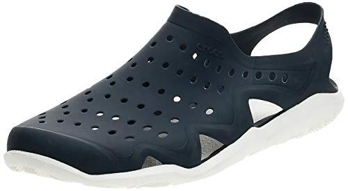 Crocs Swiftwater Wave M Zapatos de agua Hombre, Azul (Sea/Blue/White/Strap), 43-44 EU (9 UK)