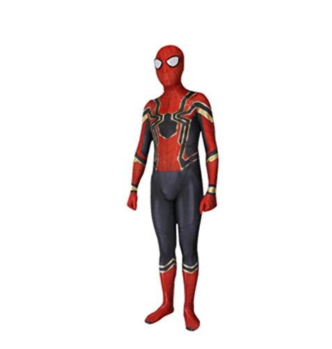 Schwarz Rot Spiderman Superhero Kinder Herren Jungen Kostüm Cosplay Party,Adult-XX-Large