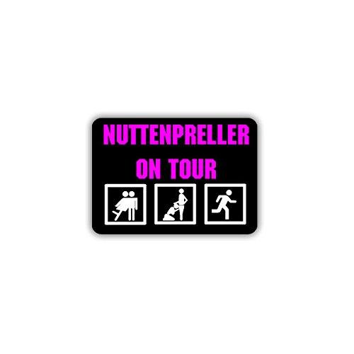 Aufkleber / Sticker - Preller on Tour Freier Erotik Puff Marathon Fun Humor Spaß 9x6cm #A1687