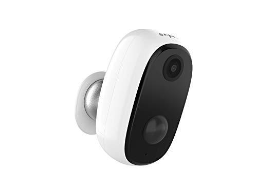 SANNCE Akku Überwachungskamera mit 10000 mAh und 2-Wege-Audio, WLAN Outdoor IP Kamera 1080P HD mit IP65 Wasserdicht,PIR-Bewegungserkennung,SD-Kartenslot