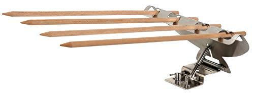 matrasa Stockfisch - Steckerlfisch Grillaufsatz - Fisch Grillen leicht gemacht - auch für Stockbrot oder Fleisch - Fischgriller