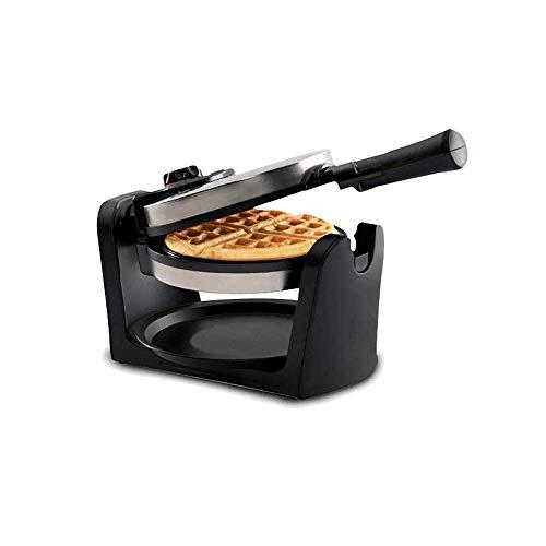 Clásico giratoria antiadherente belga Wafflera con mango desmontable bandeja de goteo plegable, Inicio de múltiples funciones Wafflera desayuno eléctrico recipiente for hornear fangkai77