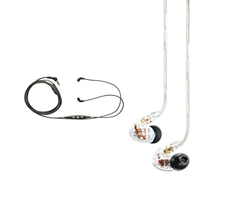 Shure SE535-CL Earphones, CBL-M+-K-EFS Music Phone Cable with Remote and Mic for iPhone, iPod and iPad