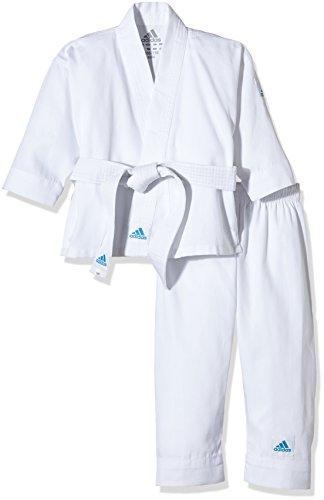 adidas, Uniforme da karate, karategi per bambini, Bianco (brilliant white), 100/110 cm