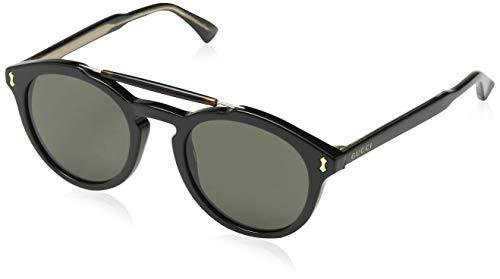Gucci GG0124S 001 Occhiali da Sole, Nero (Black/Grey), 50 Uomo