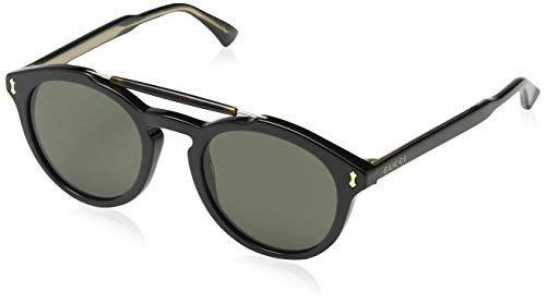 Gucci Herren GG0124S 001 Sonnenbrille, Schwarz (Black/Grey), 50