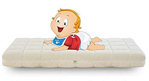 Evergreenweb - Materasso per Bambini 55x125 Alto 12cm in Waterfoam 100% Traspirante Antisoffoco Materassino Baby Ideale per Lettino, Letto Singolo Rivestimento Sfoderabile Anallergico Lavabile OFFERTA