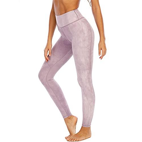 Leggins Mallas Pantalones Deportiva Niña, Tie tinte de las mujeres Impresiones de la cintura alta medias de la cintura de la cintura Yoga Pantalones Señoras Flyny Pinza de ejercicios Leggings de carre