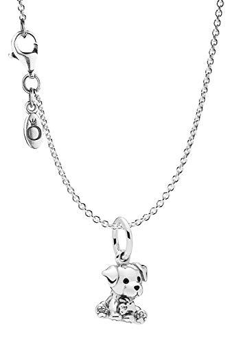 Pandora Collar con colgante labrador Puppy plata 925 75249