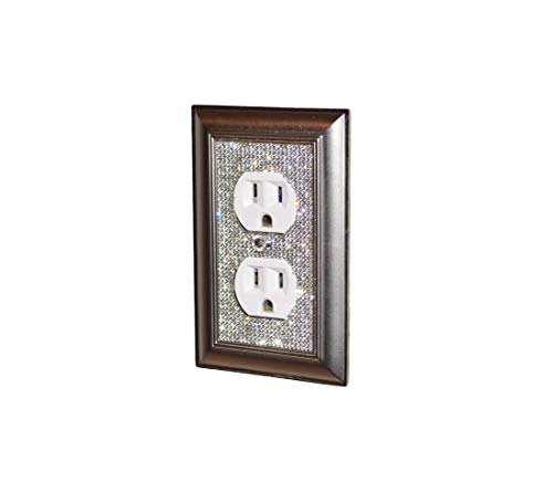 Luyshts Classy Bling Rhinestone Wall Plate Cover (Color : Single Outlet)