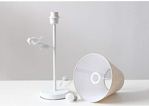 QGQ Dekorieren Tischlampen, Scandinavian Moderne Minimalistische Tischlampe Kreative Kinder Dekorative Schmiedeeisen Vogellampe Wohnzimmer Schlafzimmer Nachttischlampe Shade Cloth Blond Led Augenschu