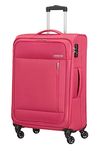 American Tourister Heat Wave Valigia Spinner M (68 cm - 65 Litri), Rosa (Magenta)