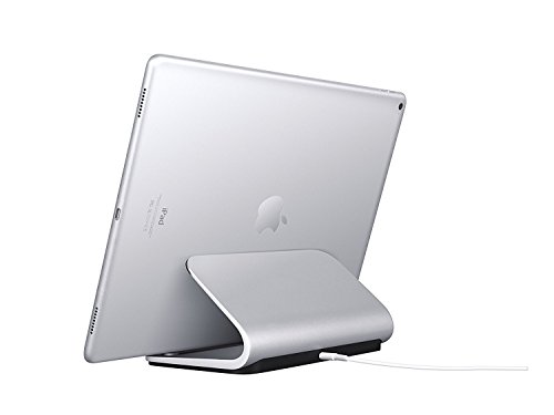 Logitech Base Charging Stand For Pad Pro 9.7-inch,10.5-inch, 12.9-inch (1st and 2nd gen) Premium Aluminum Construction Smart Connector Technology - Silver