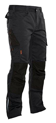 Jobman Herren Arbeitshose 2321 mit Kniepolstertaschen, Schwarz, Größe 48