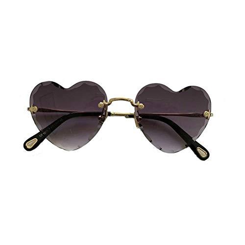 LYAKK Amor gafas de sol, corazón, gafas de sol, gafas con forma de corazón