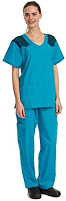 Denice Medical Uniforms For Women Medical Scrub Set Xtreme Mesh 1055