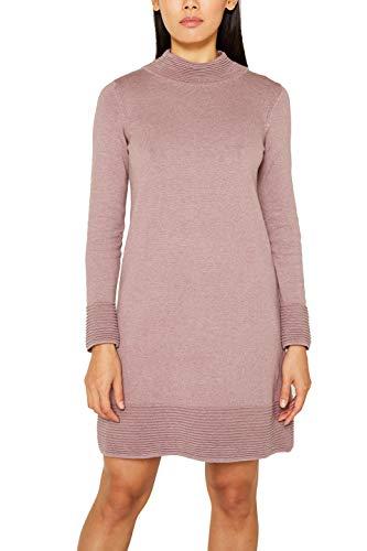 ESPRIT Damen 109Ee1E013 Kleid, Violett (Dark Mauve 5 544), Small (Herstellergröße: S)