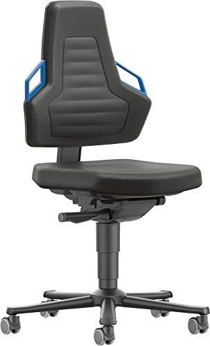 bimos Stuhl/Bürostuhl Nexxit 2 Rollen Polster Griff blau