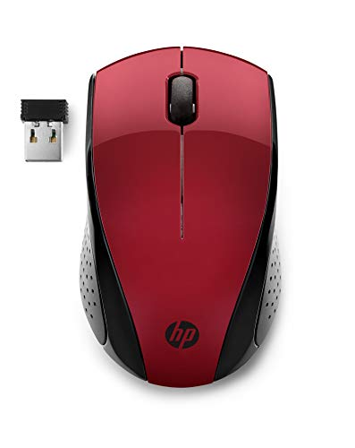 HP 220 PC-gaming-muis, wireless 1300 dpi, verlicht profiel, blauwe LED-technologie Mat Rood