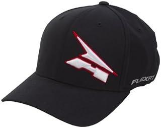 AXO Corporate Flexfit Hat (Black/White, Large/X-Large)