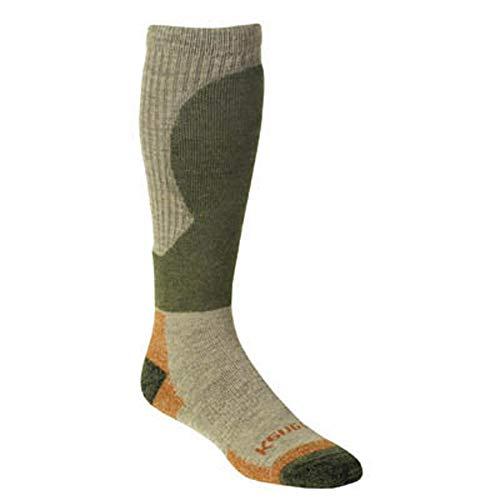 Kenetrek Canada Midweight Over-The-Calf Hiking Sock, Tan/Green, Large