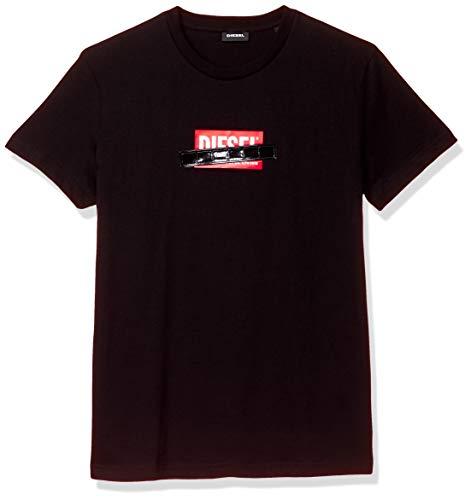 (ディーゼル) DIESEL メンズ Tシャツ ボックス ロゴ 00SEEB0BASU S ブラック 900