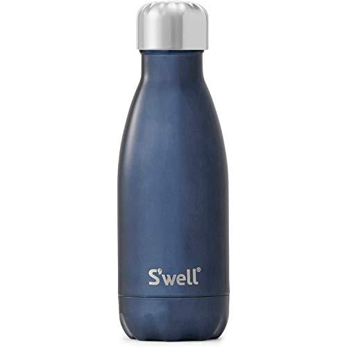 S'well Edelstahl Trinkflasche, Vakuumisoliert, 260ml, Blaues Wildleder
