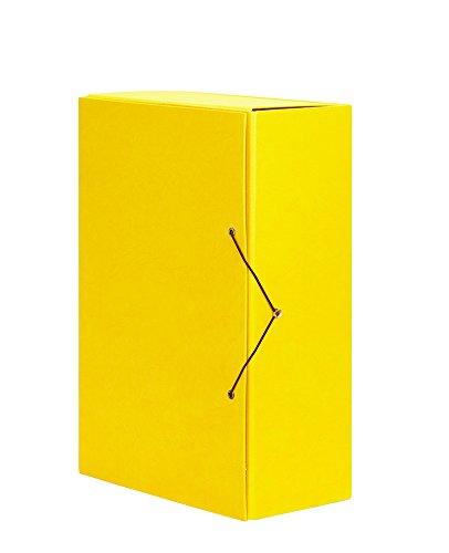 PARDO 971108 - Carpeta proyectos lomo 120 cierre gomas, color amarillo