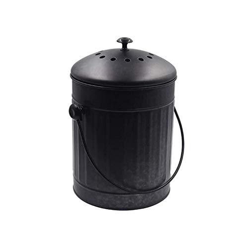 New Black Iron Food Storage Odorless Compost Barrels Kitchen Food Waste Fermented Compost Barrels fo...