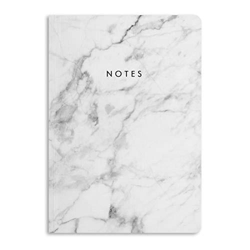 Central 23 - Taccuino in marmo, formato A5, 190 pagine a righe, dorso di 12 mm, grazioso blocco note per donne, simpatico regalo per ragazze, fornito con divertenti adesivi