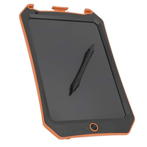 Tablero de escritura LCD con patrón de murciélago de 8.5 pulgadas, tableta electrónica de dibujo para niños Tableta de escritura LCD, almohadillas de dibujo de gráficos electrónicos(Naranja negro)