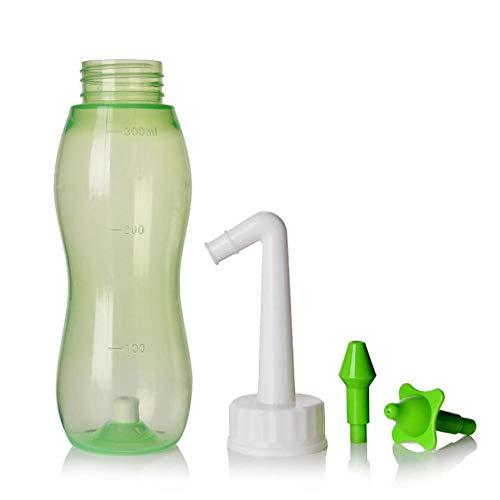 WHYTT Botella Lavado Nasal Pot Device Sistema de Limpieza de Nariz para Enjuague Botella de Spray para rinitis alérgica Tratamiento de Cuidado Nasal Adecuado para niños Adultos 300ml
