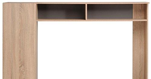 TV-Wand Fumio 5 Eiche natur Nachbildung Steinoptik 166x138cm TV-Möbel Wohnzimmer Wohnwand Schrankwand - 3