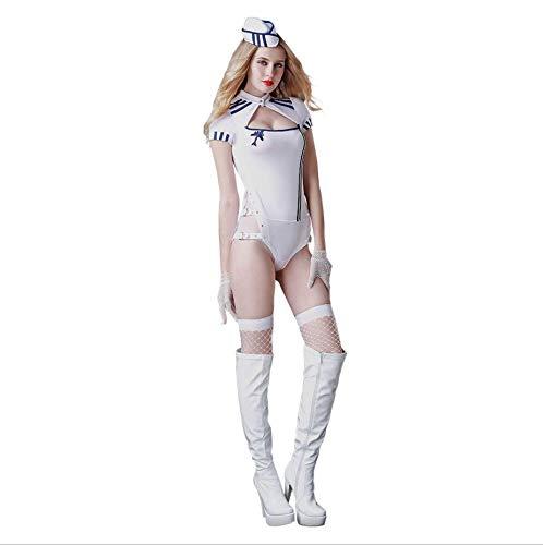 Junjiagao Sexy Unterwäsche Geile Kleidung Integrierte Navy Dessous Geile Unterwäsche Uniform Set Cosplay Web Strumpfhosen GRATIS Größe Schöne Bottom Temptation Nachtwäsche Extreme (Size : Free Size)