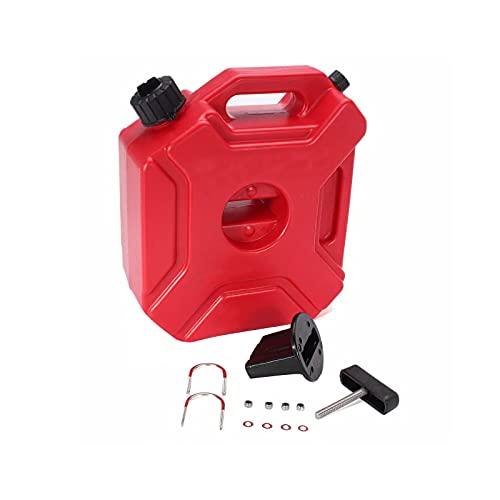 Depósito de combustible de 5 litros, plástico antiestático, bidón de gasolina para motocicleta, depósito de aceite de gasolina, depósito de combustible con asa, color rojo